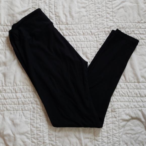Clothing, Shoes & Accessories Lularoe Os Solid Black Leggings Nwot